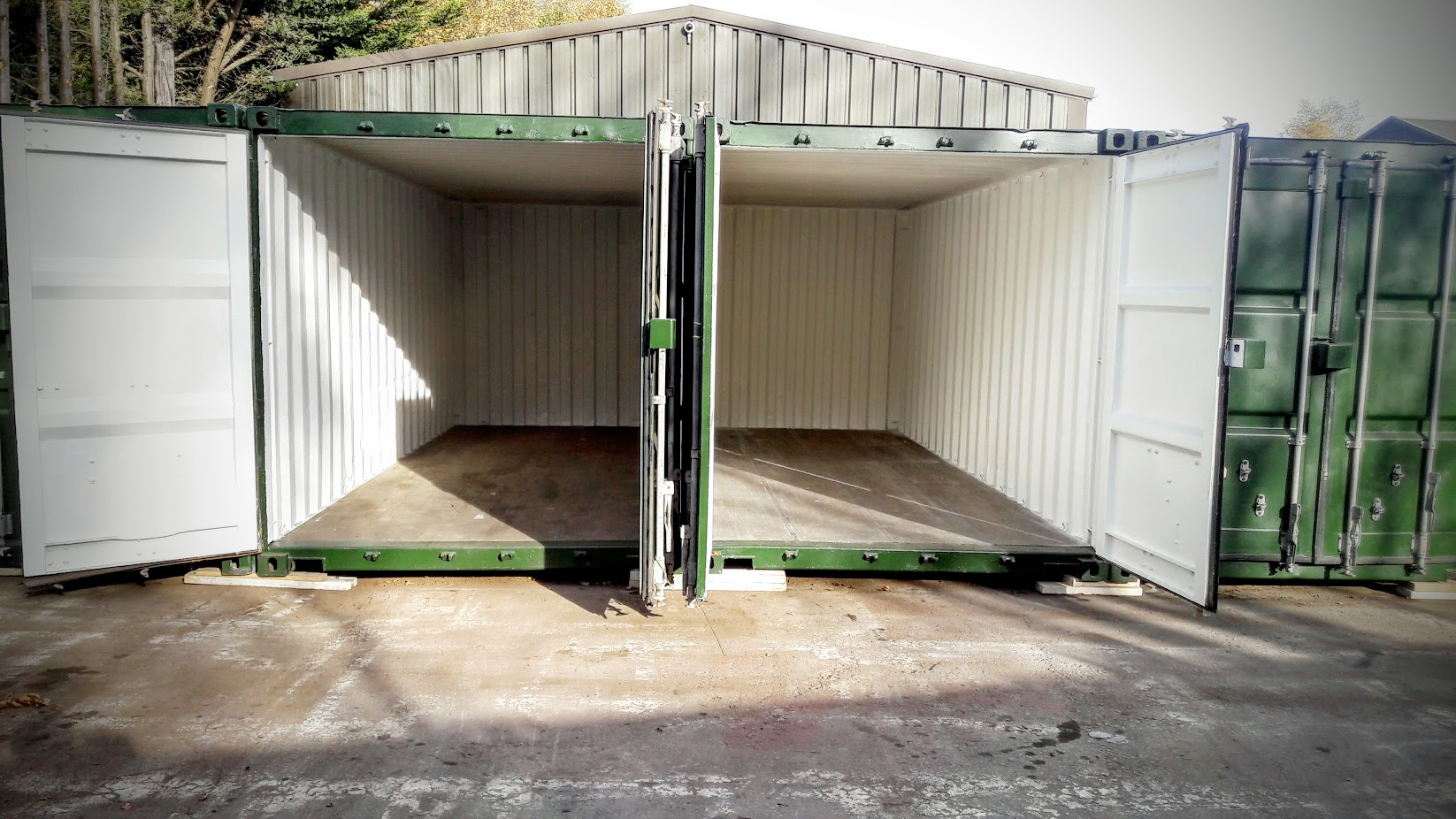 2 Completely Refurbished Blast Cleaned To Bare Metal And Professionally  Recoated, These Containers Have Also
